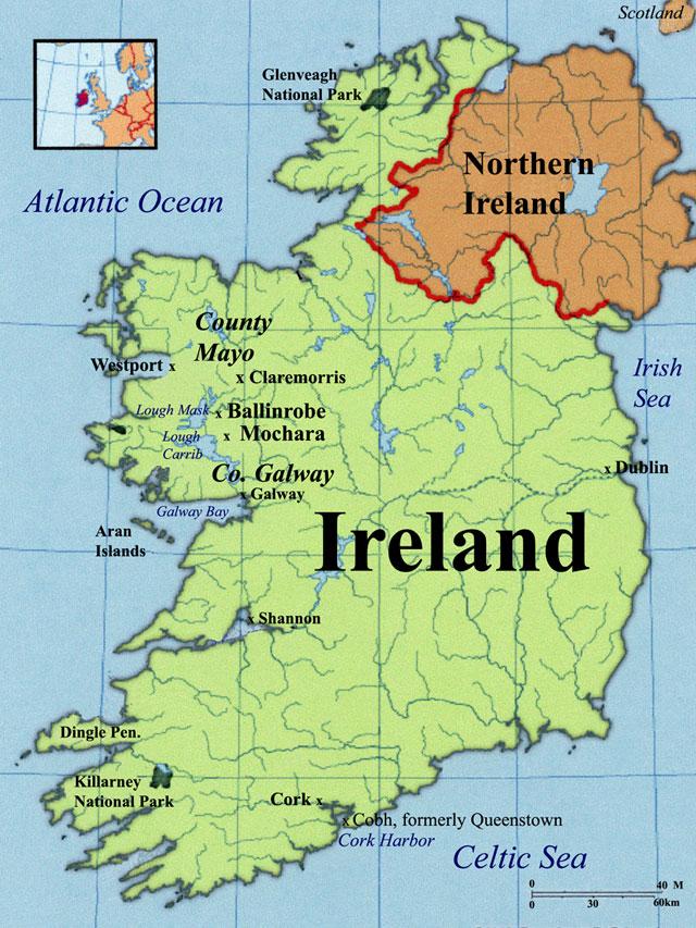 Ballinrobe Maps County Mayo Ireland